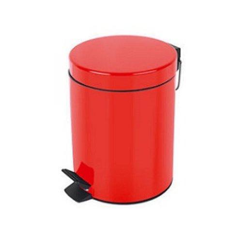 Basurero con Pedal Metal Rojo Bettanin 5 lts