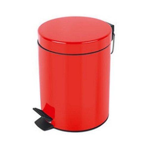 Basurero con Pedal Metal Rojo Bettanin 12 lts