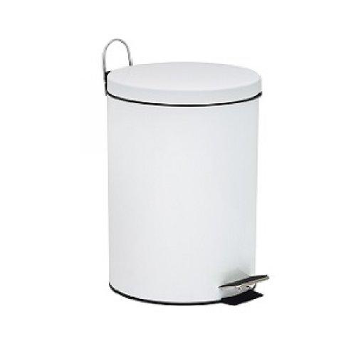 Basurero con Pedal Metal Blanco Bettanin 5 lts