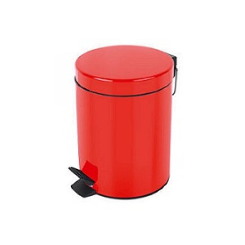 Basurero con Pedal Metal Rojo Bettanin 3 lts